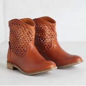 Seychelles Weekenders leather woven Trail booties